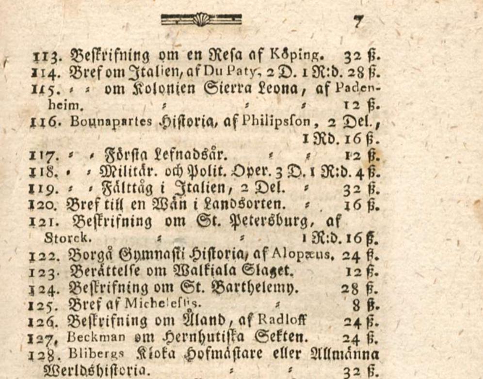 Kirjakauppias Friedrich Anton Meyer 250 vuotta